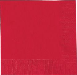 Red Luncheon Napkins 33cm - pack of 50