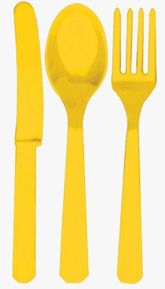 Yellow Cutlery - Pack of 24
