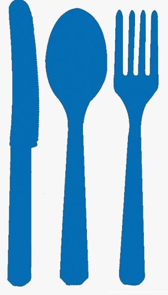 Marine Blue Cutlery - Pack of 24