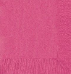 Hot Pink Luncheon Napkins 33cm - pack of 50