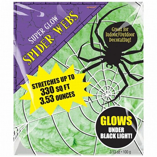 Green Spiders Web - Glows Under Ultra Violet Light - 100g