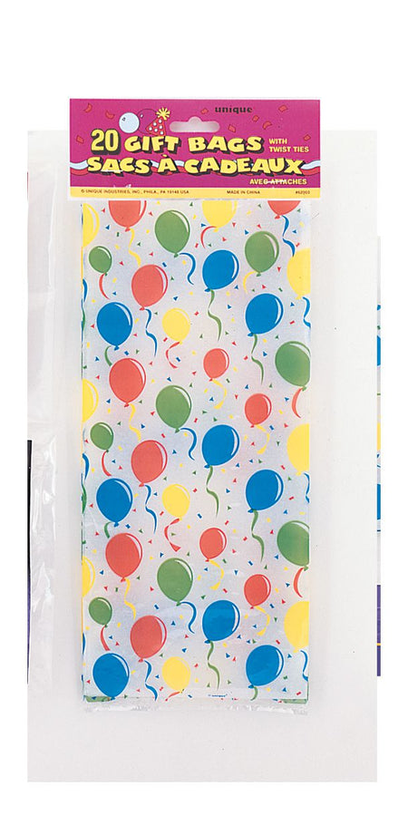Birthday Balloons Cello Bags - Pack of 20