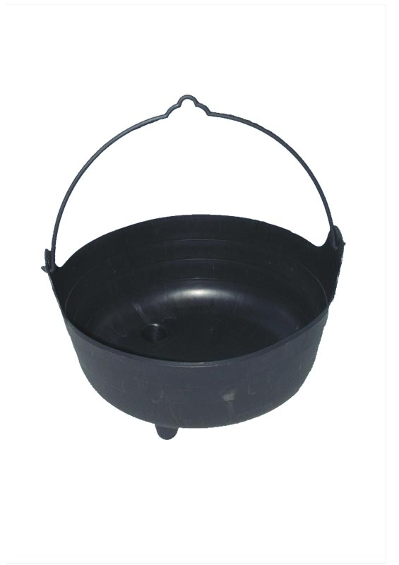 Large Black PVC Cauldron - 35.6cm