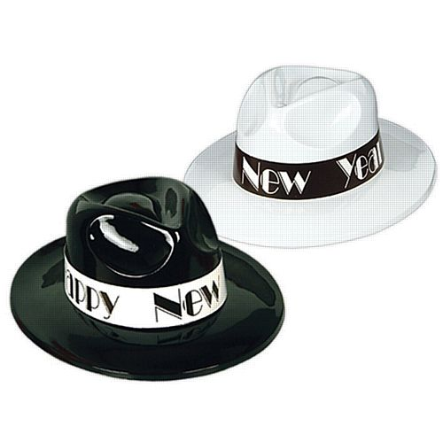 Happy New Year Plastic Fedora