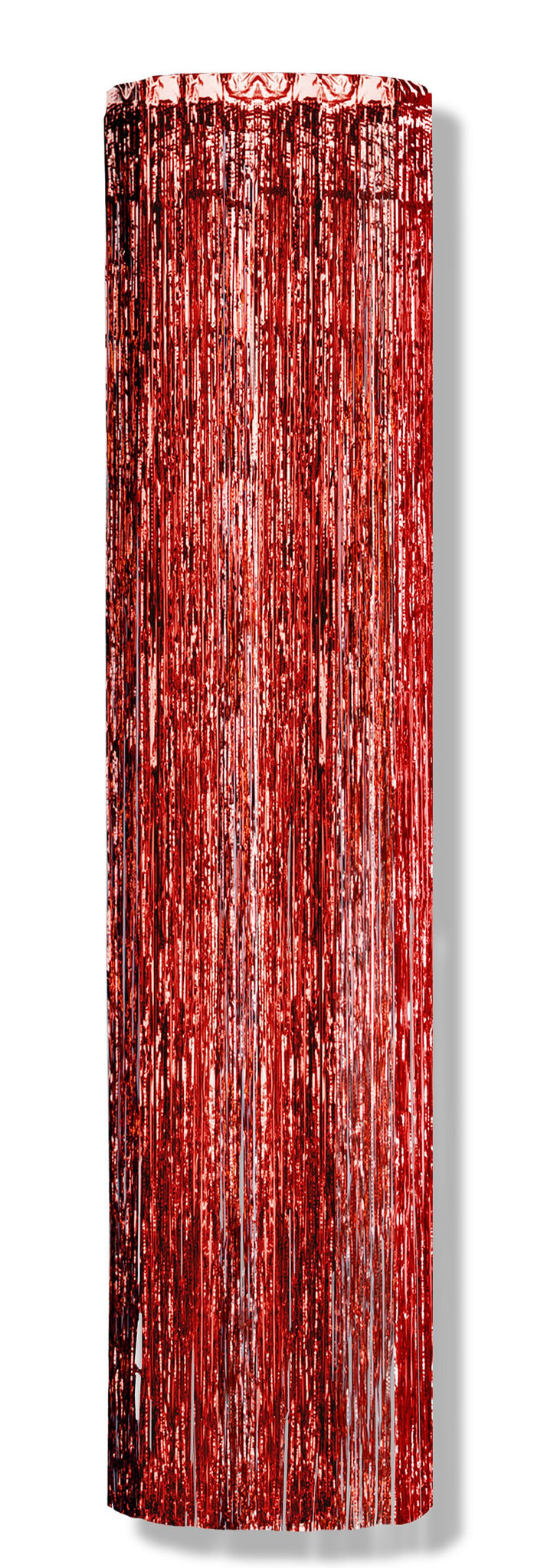 Red Metallic Column - 8ft x 1ft