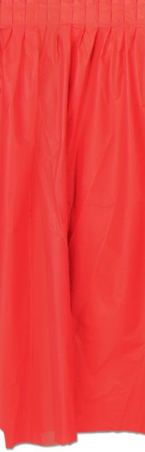 Click to view product details and reviews for Red Solid Colour Table Skirting 70cm X 42m.
