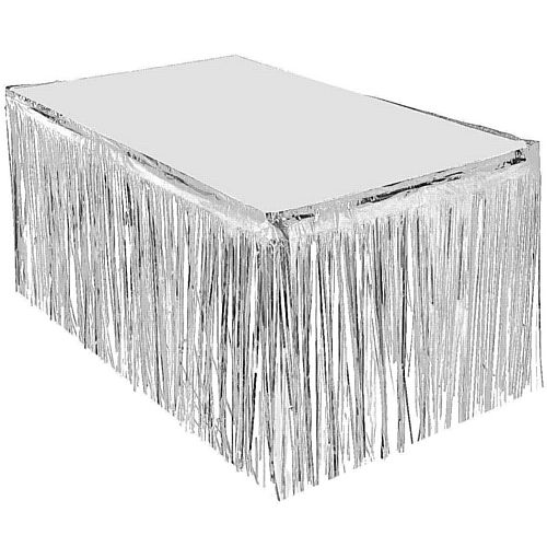 Silver Metallic Table Skirting- 76cm x 4.3m