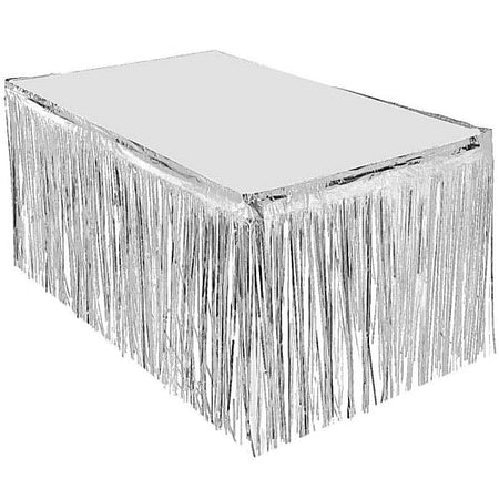 Click to view product details and reviews for Silver Metallic Table Skirting 76cm X 43m.