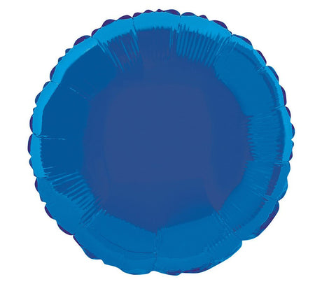 Blue Round Foil Balloon - 18