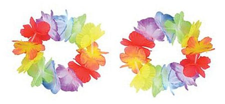 Multi-Colour Flower Wristbands/Anklets Pack of 2