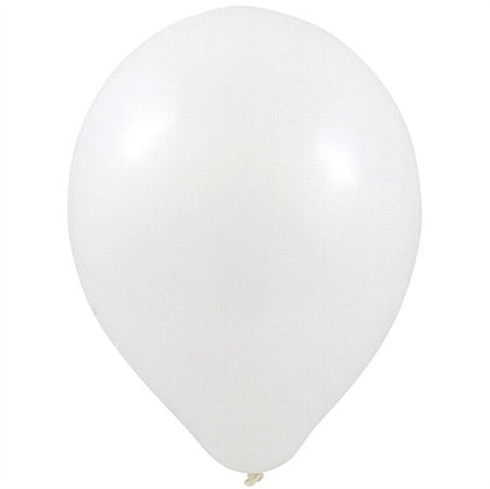 White Latex Balloons - 10