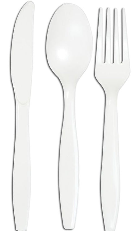 White Cutlery - Pack of 24
