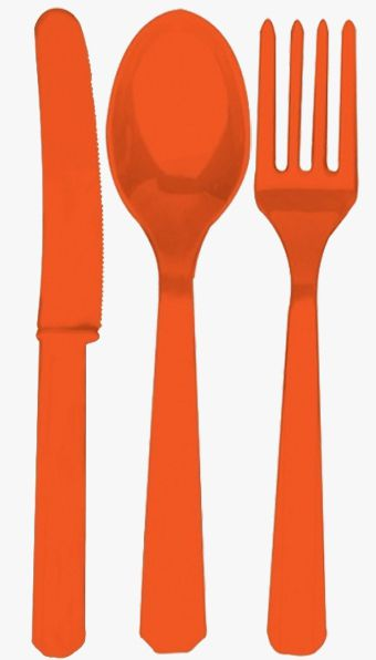 Orange Cutlery - Pack of 24