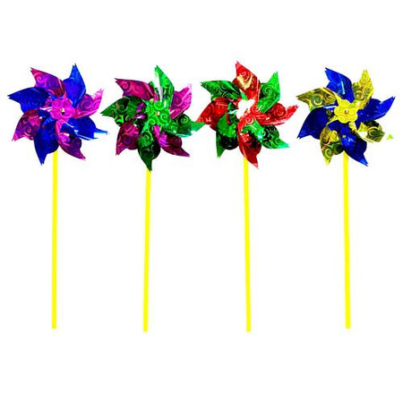 Large Foil Windmill - Assorted Colours - 40cm - Each