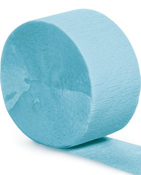 Light Blue Crepe Paper Streamer - 25m