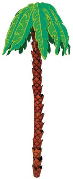 Hanging 3-D Palm Tree Decoration - 2.4m
