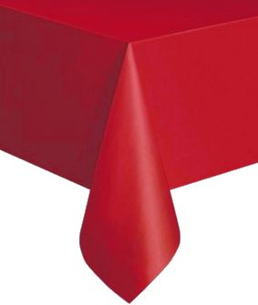 Red Plastic Tablecloth 1.4m x 2.8m