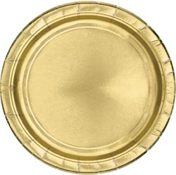 Gold Paper Plates - Each - 9""