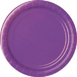 Purple Paper Plates - Each - 9