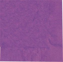 Purple Luncheon Napkins - Pack of 50 - 33cm