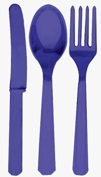 Purple Cutlery - Pack of 24