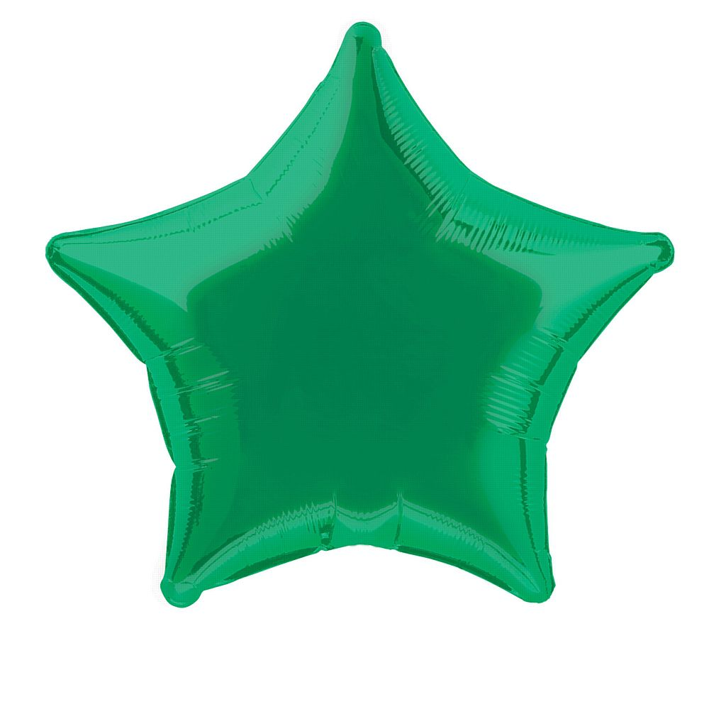 Green Star Foil Balloon 19""