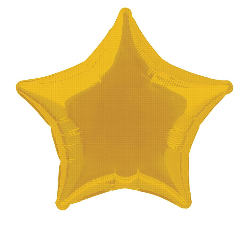 Gold Star Foil Balloon 19""