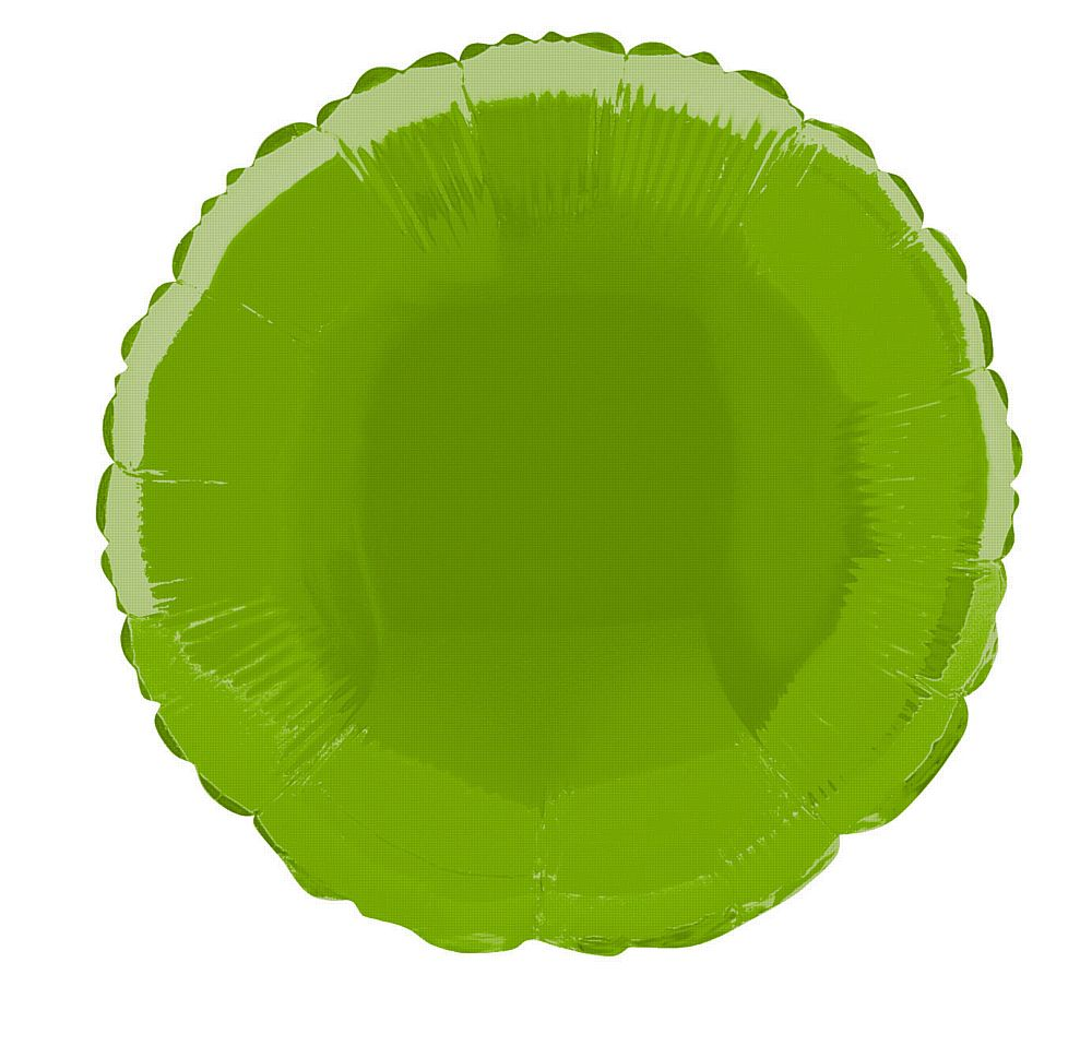 Lime Green Round Foil Balloon - 18""