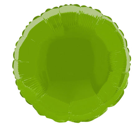 Lime Green Round Foil Balloon - 18
