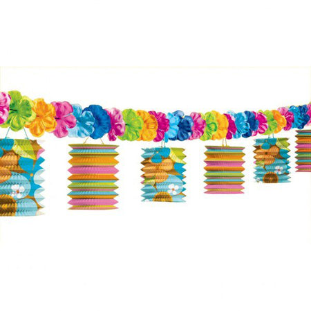 Totally Tiki Lantern Garland 3.65m
