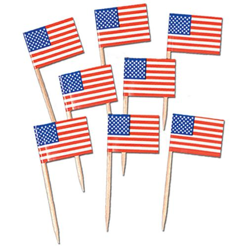 American Flag Picks - Pack of 50