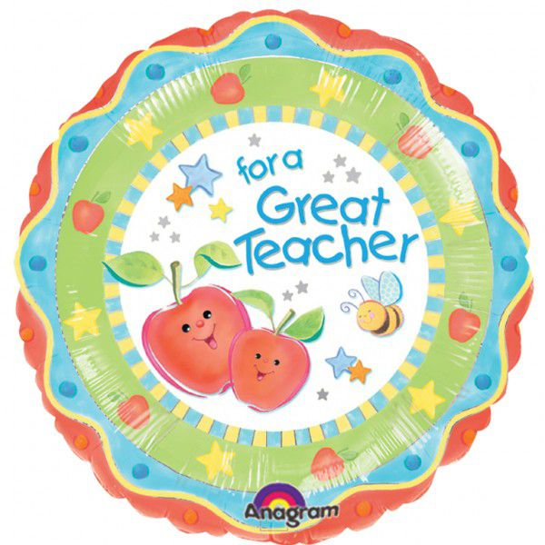 For a great teacher foil balloon 18""