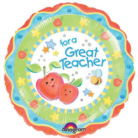 For a great teacher foil balloon 18