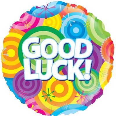 Good Luck Rainbow Circles Foil Balloon - 18""