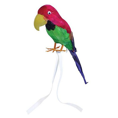 Stuffed Feather Parrot - 38.1cm