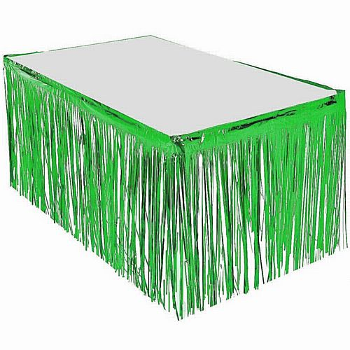 Green Metallic Table Skirting - 76cm x 4.3m