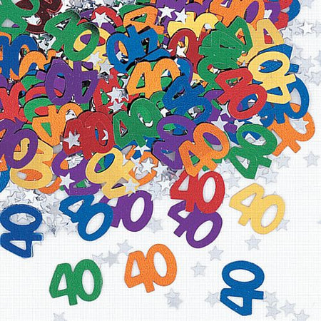 Click to view product details and reviews for 40th Birthday Age Confetti 14g.