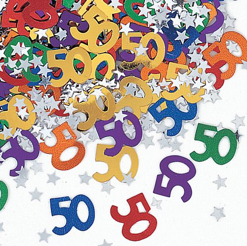 50th Birthday Age Confetti - 14g