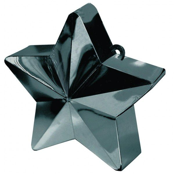 Black Star Balloon Weight - 6oz - 10cm