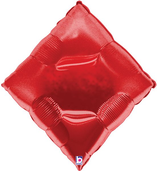 Red Card Suit Diamond Foil Balloon 35""