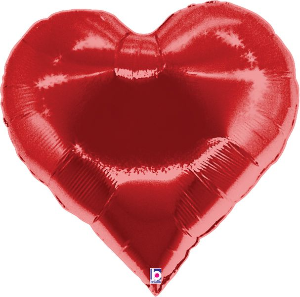 Red Card Suit Heart Foil Balloon 35""