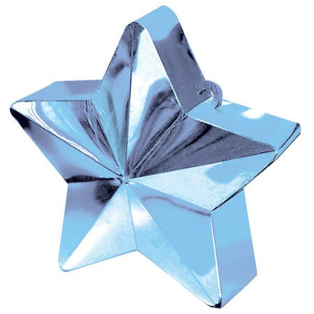Light Blue Star Balloon Weight - 6oz - 10cm