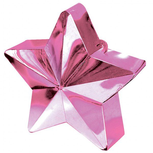 Pink Star Balloon Weight - 6oz - 10cm