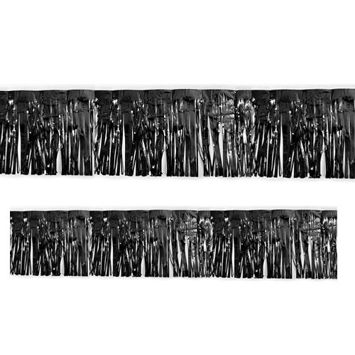Black Metallic Fringed Garland - 3m