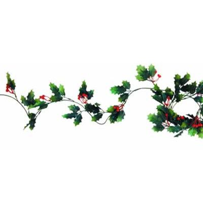 Holly & Berry Garland - 6ft
