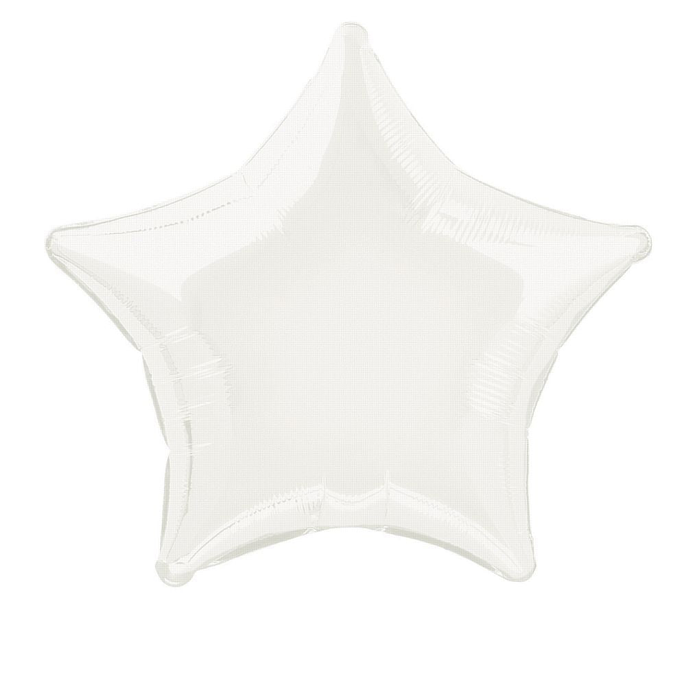 White Star Foil Balloon 19""