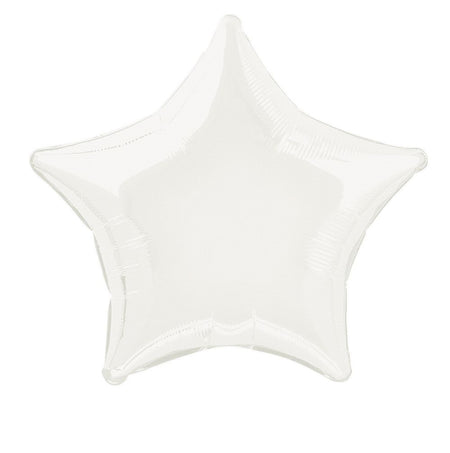 White Star Foil Balloon 19