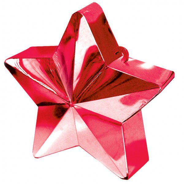 Red Star Balloon Weight - 6oz - 10cm
