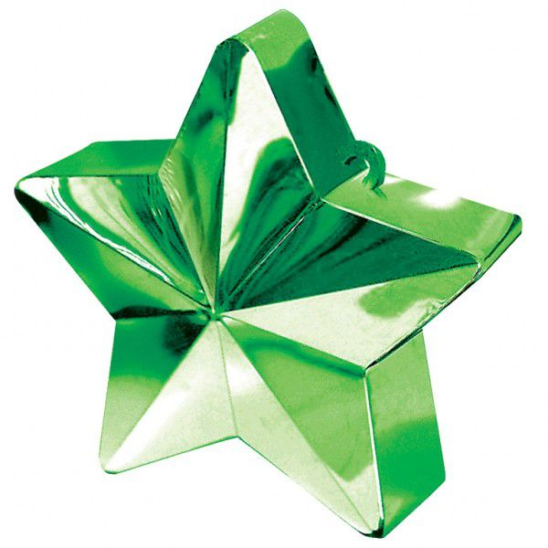 Green Star Balloon Weight - 6oz - 10cm