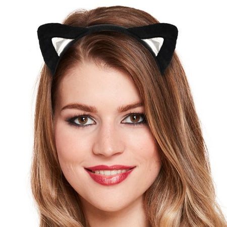 Cat Ears with Black Fur